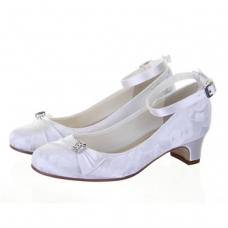 Rainbow Kids Mint Communion Shoes - White - UK 2 (Euro 35, US 4)
