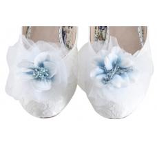 Perfect Bridal Apple Shoe Trim - Pale Blue - Blue