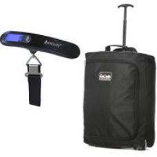 55x40x20cm & 50kg/100lbs Trolley Bag, 42L (Black+ Scales)