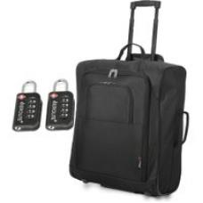 56x45x25cm & TSA Padlock Trolley Bag, 60L (Black + TSA)
