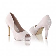 Perfect Bridal Celia Shoes - Blush - Ivory Lace - Euro 40 (UK 6.5 / 7, US 9)