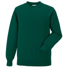 Jerzees Schoolgear Bottle Green Kids Raglan Sleeve Sweatshirt (11-12)