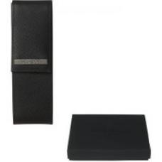 Hugo Boss Advance Black Leather Pen Case HLX535