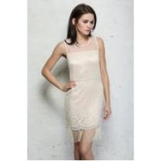 Aftershock Ivory Flapper Dress