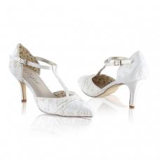 Perfect Bridal Betsy Shoes - Ivory Lace - Euro 37 (UK 4, US 6.5)