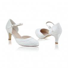 Perfect Bridal Elsa Shoes - Lace - Ivory Lace - Euro 40 (UK 6.5 / 7, US 9)