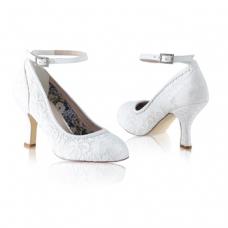 Perfect Bridal Dixie Shoes - Ivory Lace - Euro 40 (UK 6.5 / 7, US 9)