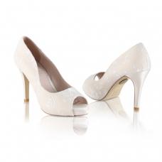 Perfect Bridal Celia Shoes - Gold - Ivory Lace - Euro 39 (UK 6, US 8.5)