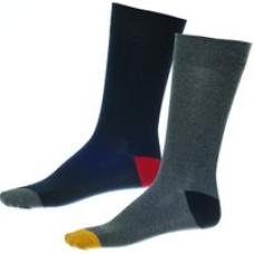 Walktall - Contrast Heel Toe Sock (2 Pair Pack) - Navy/Charcoal
