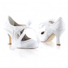 Perfect Bridal Bianca Shoes - Ivory Lace - Euro 41 (UK 7.5 / 8, US 9.5)